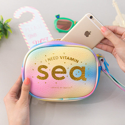 I NEED VITAMIN SEA - Zipper Handbag with Tassel