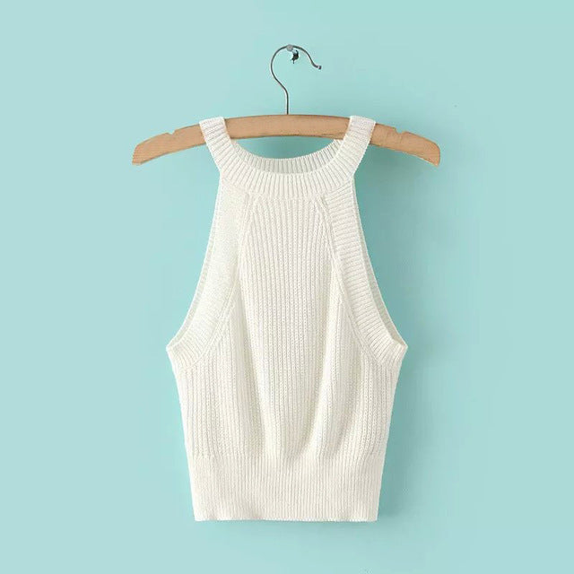 Crochet Croped Tank Tops