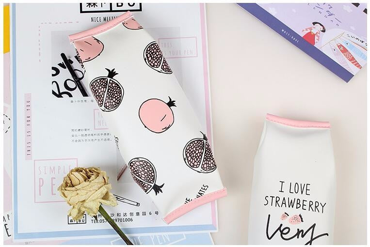 Pink Fruit Pencil Bag