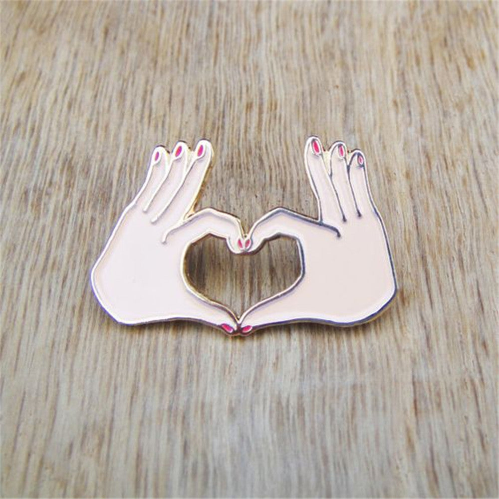 Heart Shape Brooch Pin