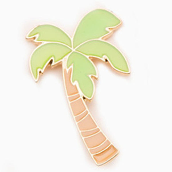 Coconut Tree Brooch Pin