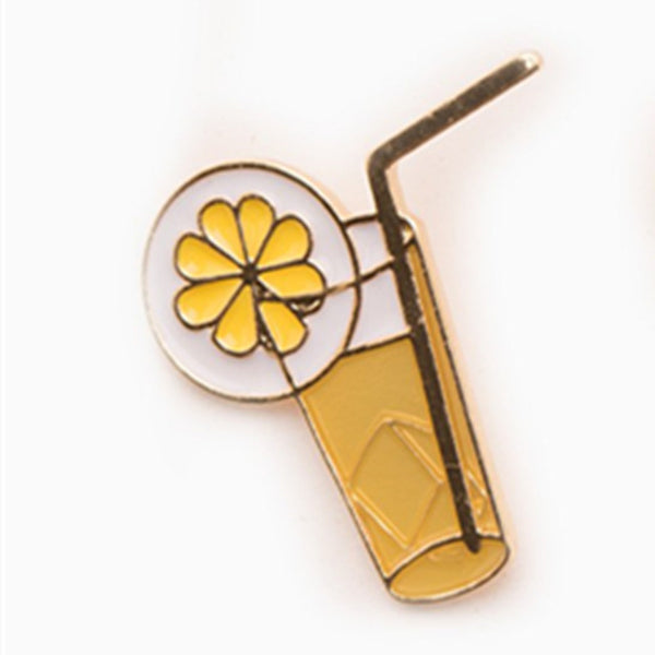 Lemon Juice Brooch Pin