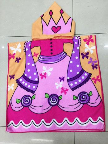 Cute Princess Hooded Baby Towel