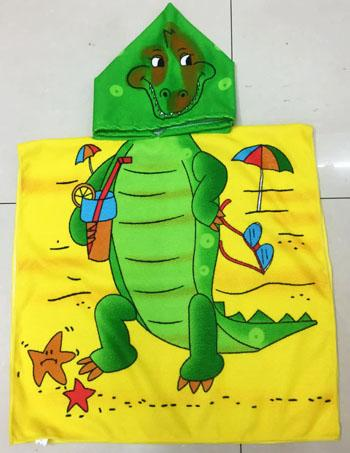 Mr Crocodile Cartoon Print Hooded Baby Towel