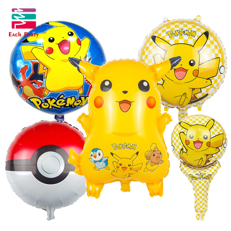 Pokemon Cartoon Foil Balloons