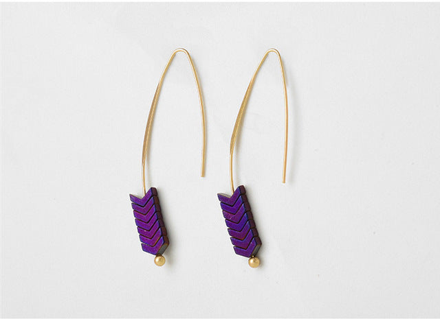 The Arrow Natural Stone Drop Earrings