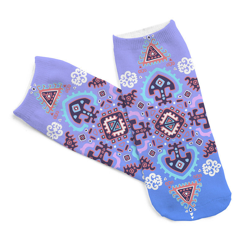 Beautiful Pattern Printing Socks