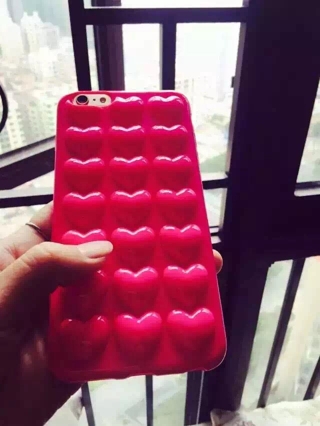 Love Heart Soft TPU Silicone Candy Phone Cases For iPhone