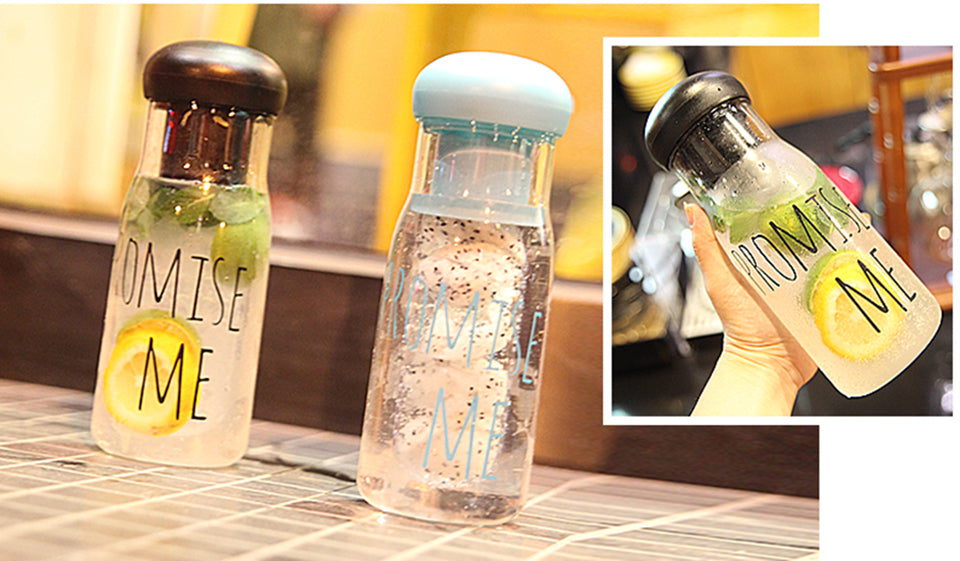 Promise Me Series Leak Proof Transparent Juice Bottles