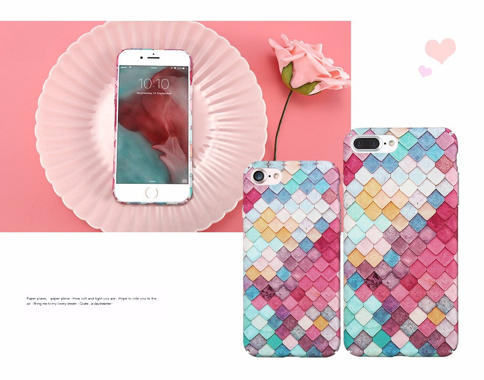 3D Scales Squama Hard Phone Cases For iPhone