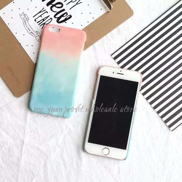 Gradient Sweet Candy Color Phone Cases For iPhone