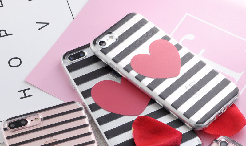 Geometric Pattern & Heart Phone Cases For iPhone
