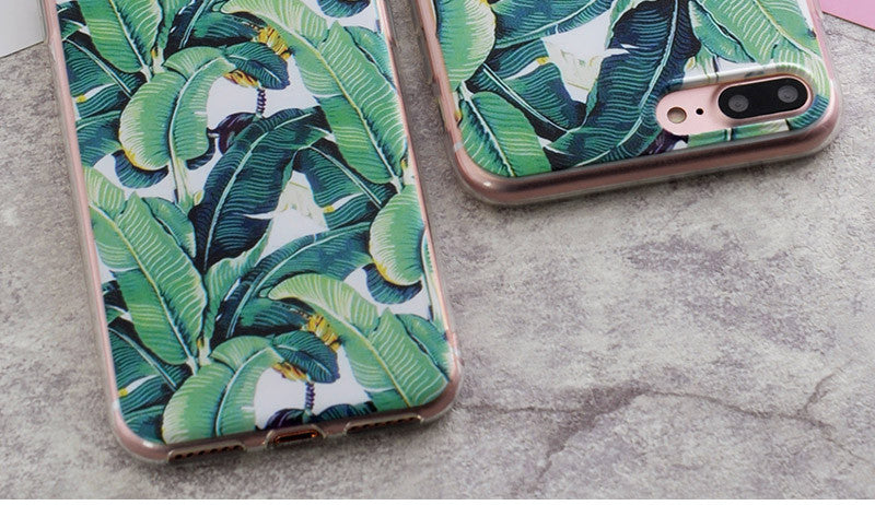 Leaf Print Phone Cases For iPhone