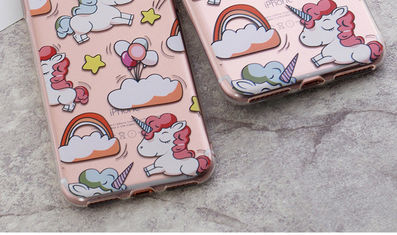 Unicorn Print Phone Cases For iPhone