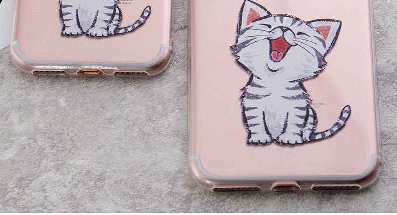 Cute Cat Print Phone Cases For iPhone