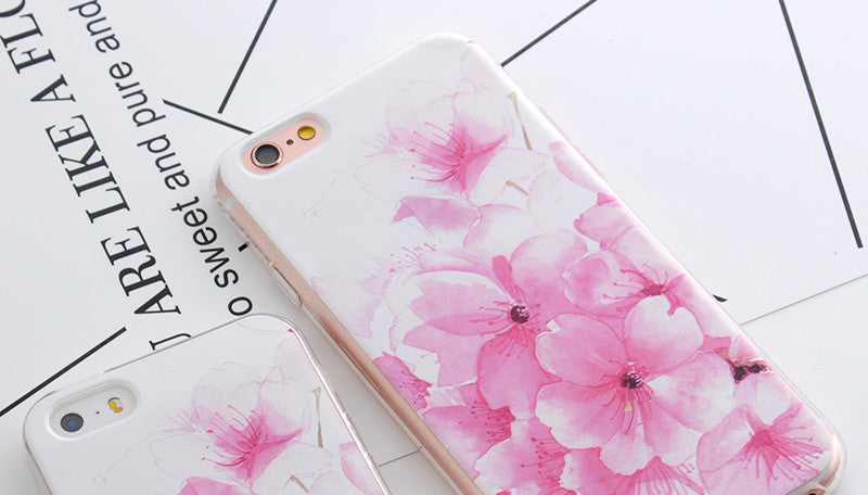 Flower Print Phone Cases For iPhone