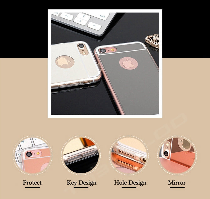 Luxury Mirror TPU Silicone Cases For iPhone