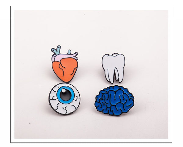 Body Organs Series Brooch Pins