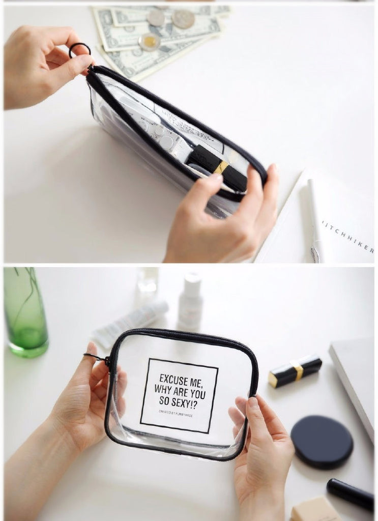 PVC Transparent Mini Cosmetic Organizer Bag