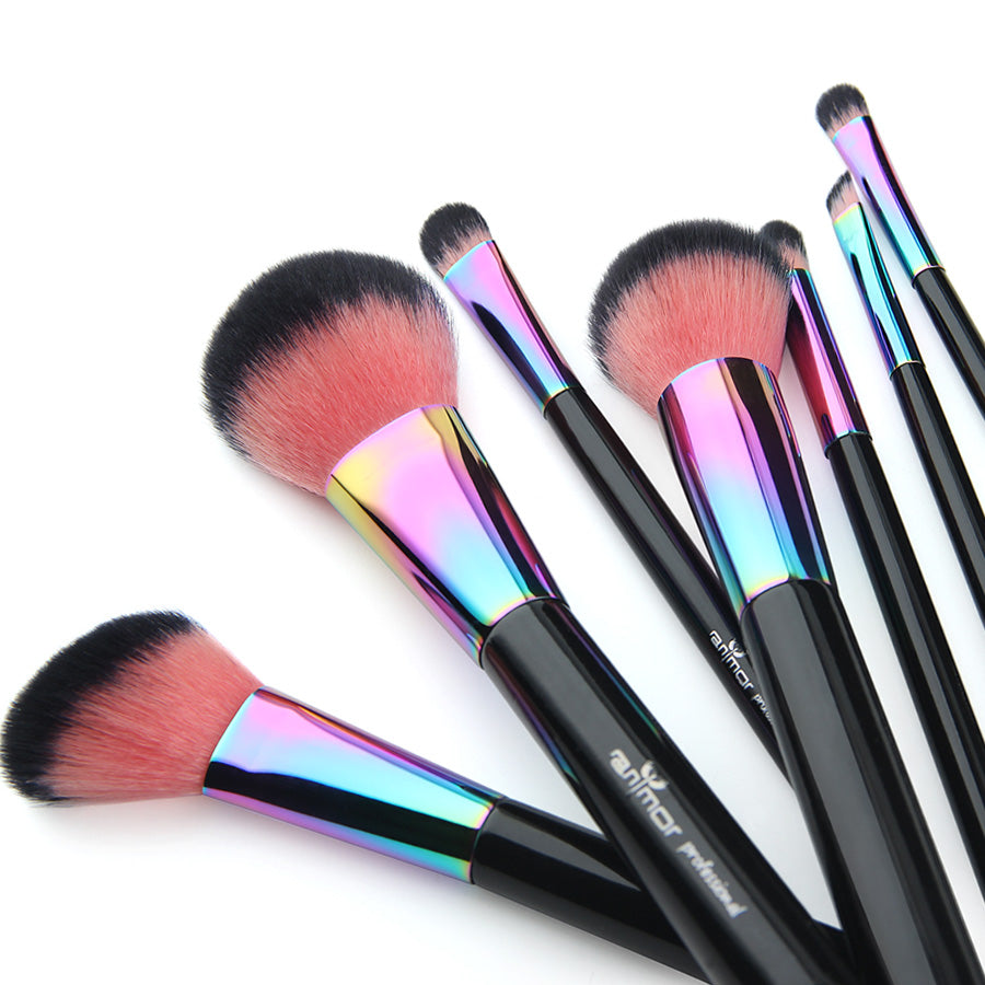 High Quality Copper Make Up Brushes (7 Brushes)