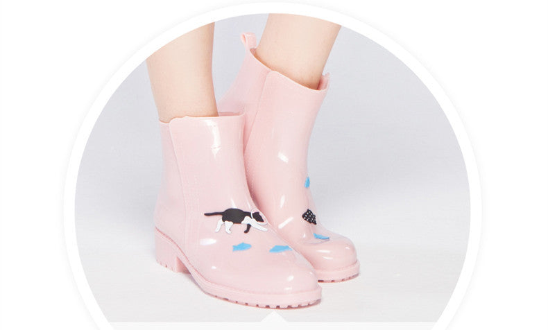 PVC Rain Short AnimalsPrint Boots