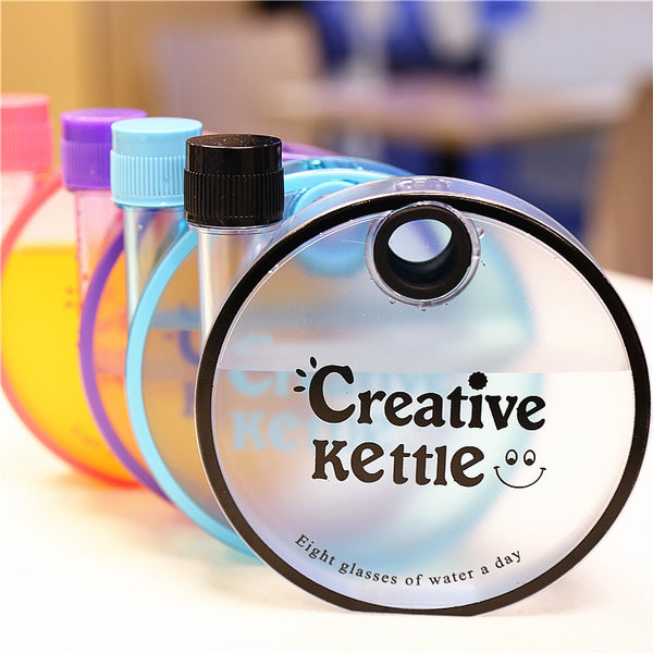 Personalized Frosted Round Plastic Water Bottles