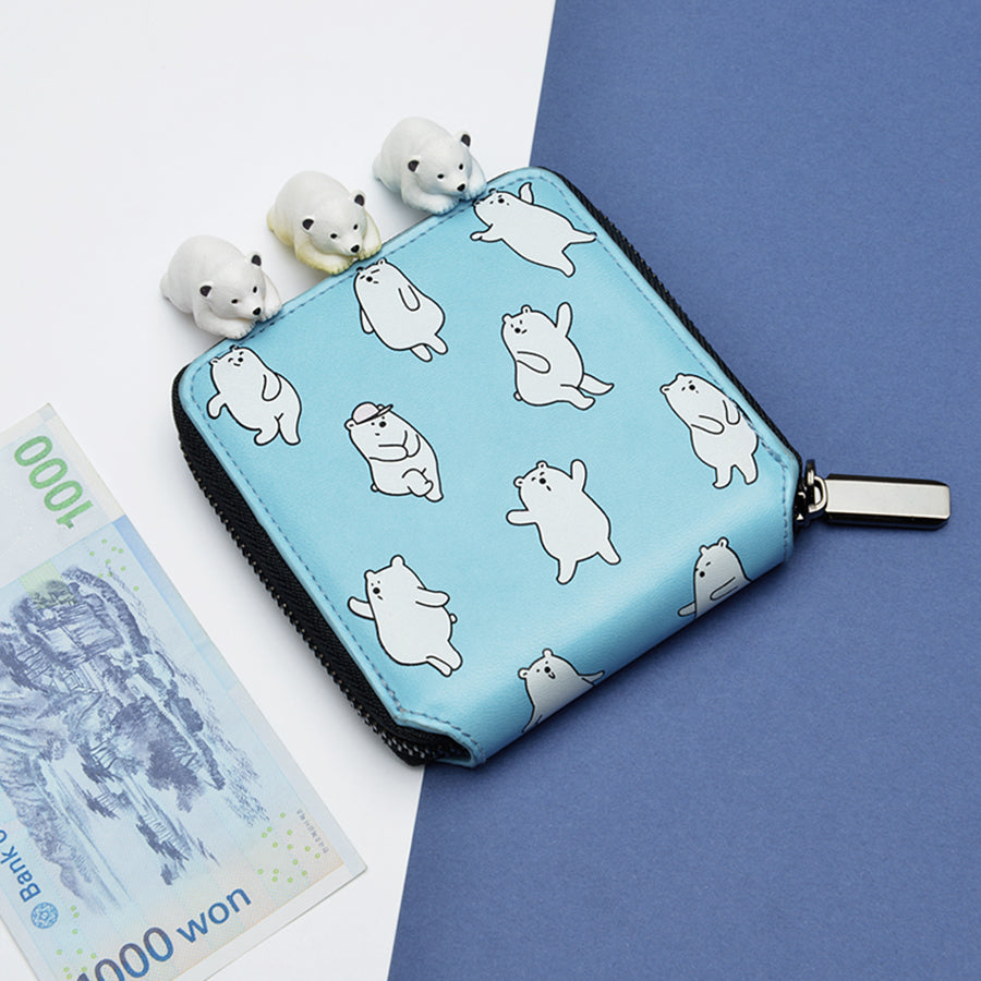 Cute Animal Pattern Print PU Short Wallet