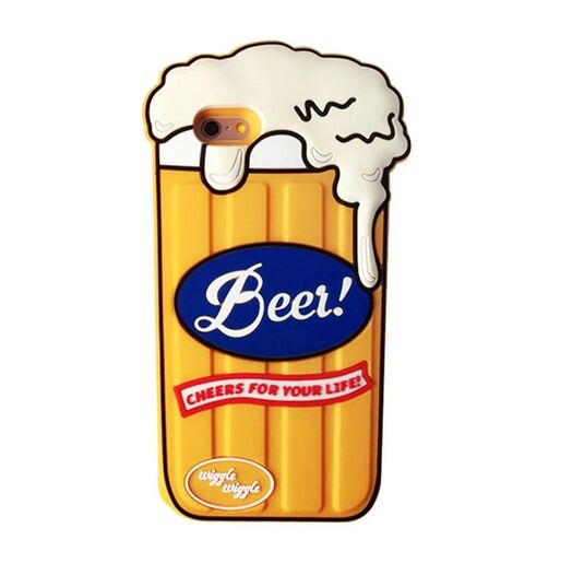 3D Style Beer Glass Soft Silicone Phone Cases For iPhone