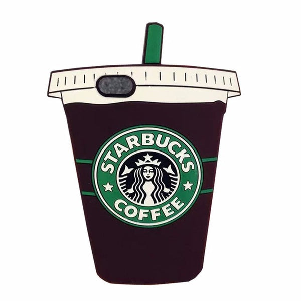 3D Style Starbucks Coffee Soft Silicone Phone Cases For iPhone