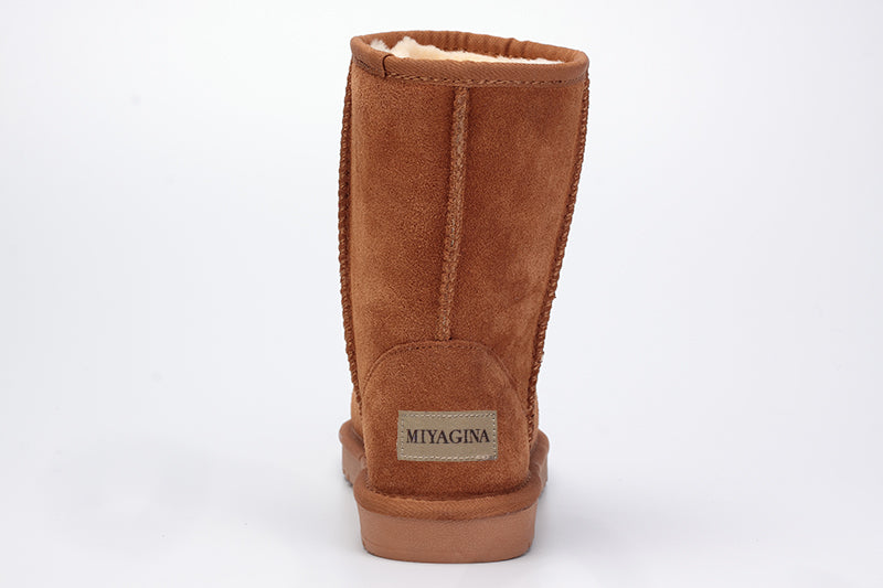 Genuine Leather Snow Boots For Women