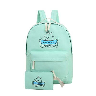 Cute Printing Canvas Backpacks