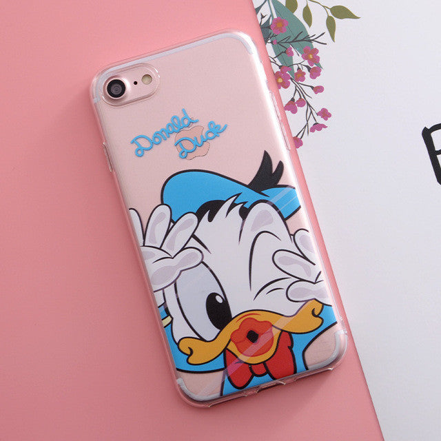 Cartoon Print Phone Cases For iPhone