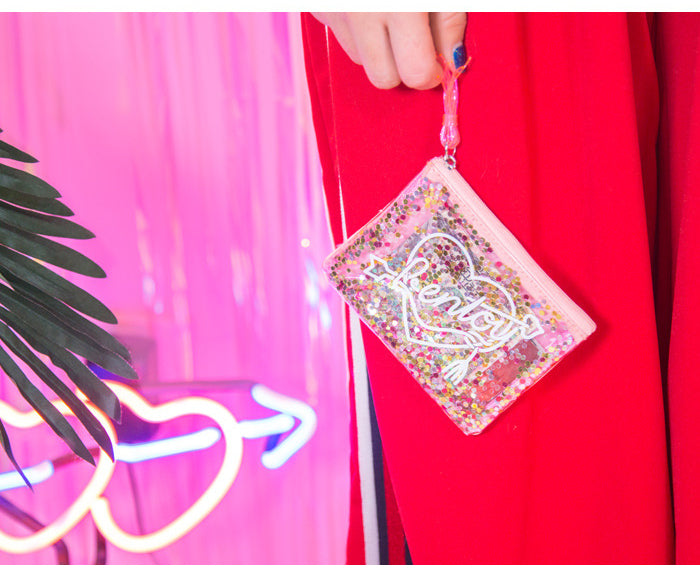 Lovely Glitter Purse with Tassel