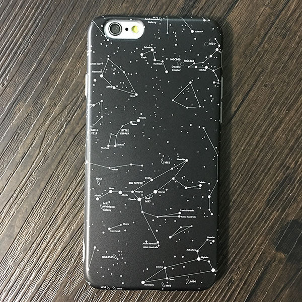 Night Sky Stars Soft Silicone Phone Case For iPhone