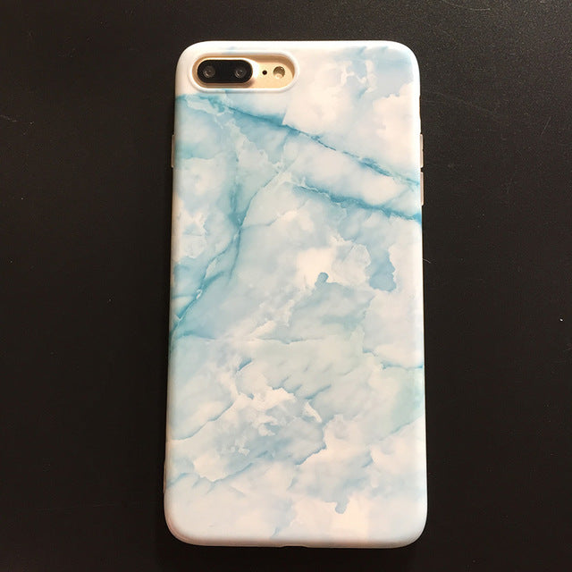Colorful Soft Silicone Marble Granite Phone Cases For iPhone 7 / 7 Plus