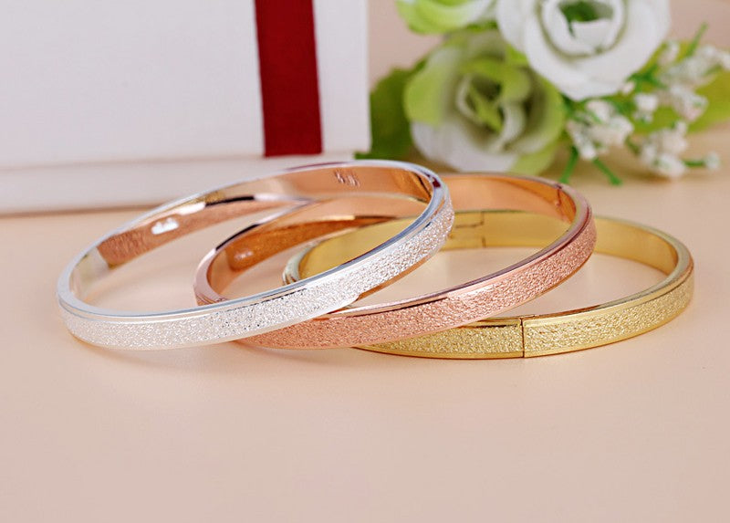 Plain Sparkle Dusted Cuff Bracelets