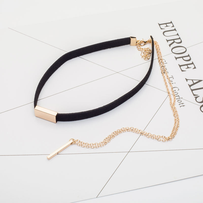 Gold Plated Velvet Choker Necklaces