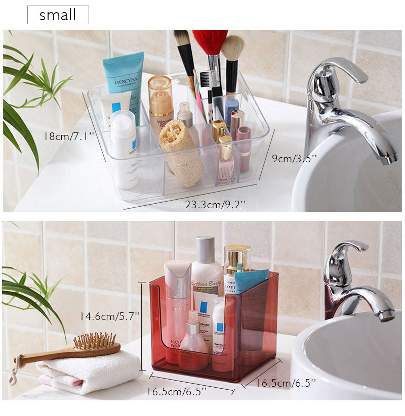Transparent Plastic Cosmetic Holder