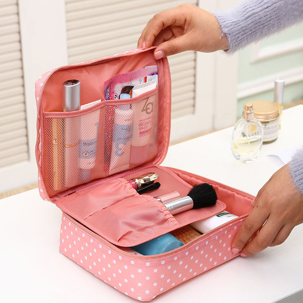 Geometric Print Beauty Case Make Up Organizer