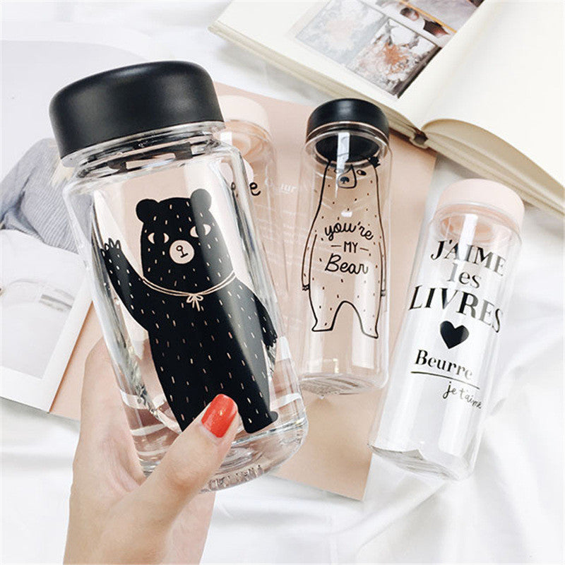 Happy Bear Water Bottle (350 ml. / 500 ml.)