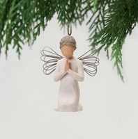 ANGEL OF PRAYER ORNAMENT WILLOW TREE
