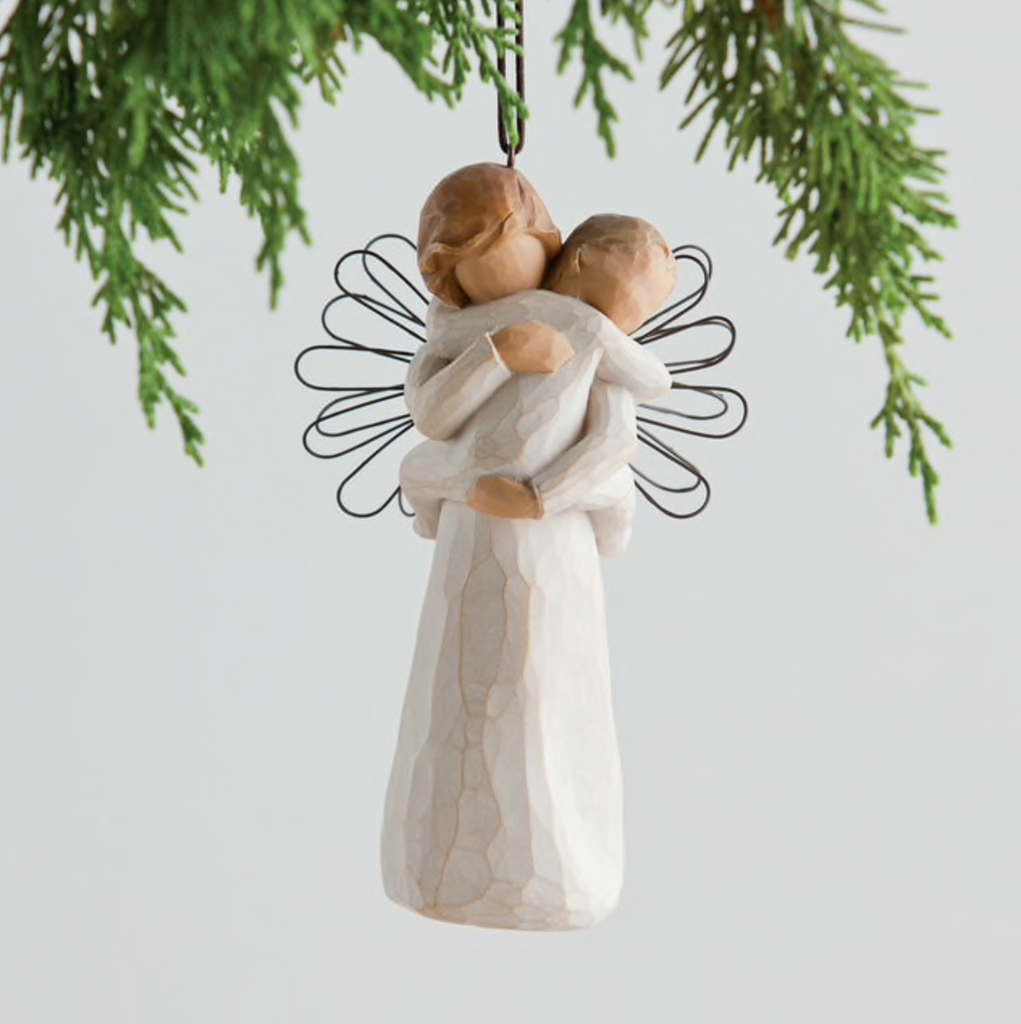 ANGELS EMBRACE ORNAMENT WILLOW TREE