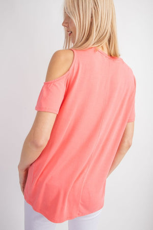 Coral Cut Out Top