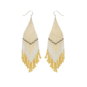 FOSTERIE - Champagne Beaded Earrings