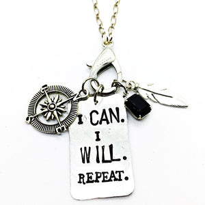Buffalo Girls Salvage - I Can. I Will. Repeat. Treasure Necklace