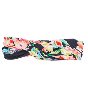 Headbands of Hope - Black Floral Infinity Turban