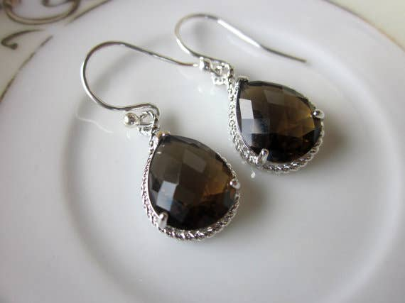 Laalee Jewelry - Smoky Brown Earrings 7131