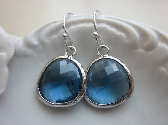 Laalee Jewelry - Sapphire Blue Earrings 7125