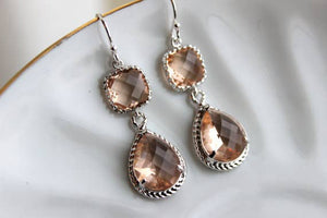 Laalee Jewelry - Blush Champagne Earrings 9001