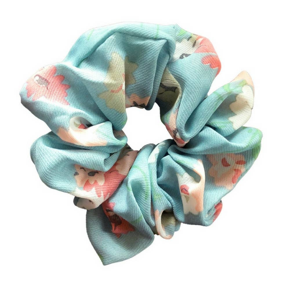 Headbands of Hope - Scrunchie Aqua Floral